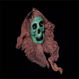 Halloween Bar House Decoration Ghost Head Horror Green