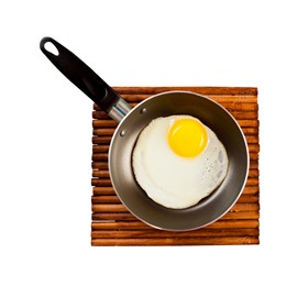 3D Fry Pan Omelette Pattern Removable Mouse Pad Desk Stickers