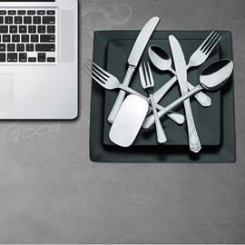 3D Knife Fork Spoon Pattern Removable Mouse Pad Desk Stickers