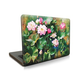 Lotus Pond Pattern Hard Plastic Cover for MacBook