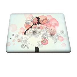 Floral Girl Pattern Hard Plastic Cover for MacBook