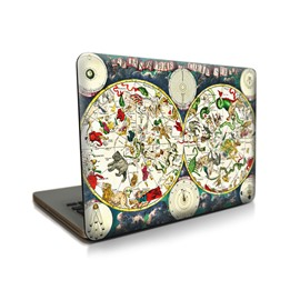 Animal World Map Pattern Hard Plastic Cover for MacBook