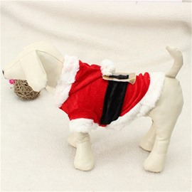 Dog Costume Christmas Pet Clothes Winter Hoodie Coat Dress