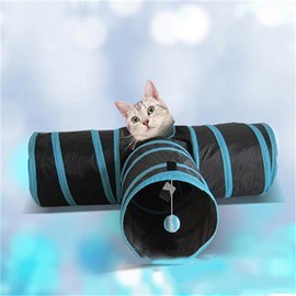 T Shape Channel Cave Play for Pet Cat