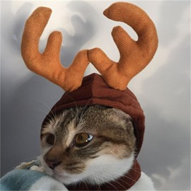 Halloween Christmas Festival Costume Deer Cat Dog Cute Hat