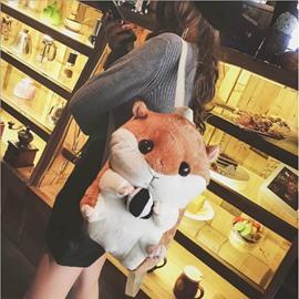 Hamsters Doll Backpack Lovely Plush Animals School Bag