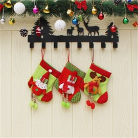 Hanging Legs Decoration Classic Non-Woven Fabric and Wool Christmas Stocking