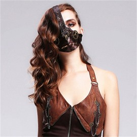 Dead Bird Gear Mask Gothic Witch for Women