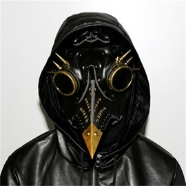 Hallowmas Scary Real PU and Metal Accessories Plague Doctor Bird Mask Beak Doctor