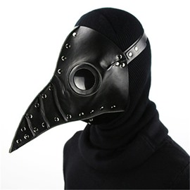 Mask Birds Long Nose Halloween Costume Props Cosplay Black