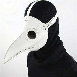 Mask Birds Long Nose Cosplay Halloween Costume Props White