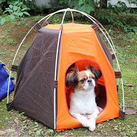 Outdoor Portable Dog Cat Waterproof House Camping Foldable Pet Tent