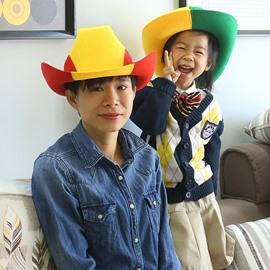 World Cup Theme Green Felt Fiber Material Suitable for AdultΧldren Cowboy Hat