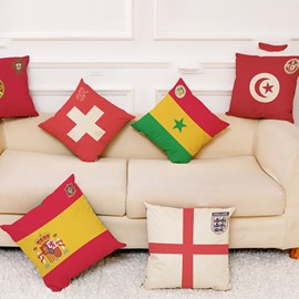 World Cup Theme National Flag Pattern Modern Style Pillowcase