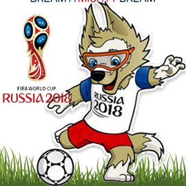 World Cup Theme Cotton Material Short Plush Animal Pattern Mascot Doll