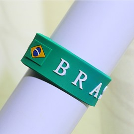 World Cup Theme PVC Material Simple Style Wrist Strape