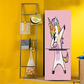 Creative Unicorn Pattern Removable Waterproof PVC Material Fridge Sticker