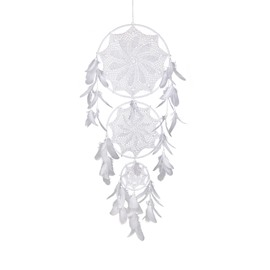 Pure White Feather Dreamcatcher Holiday Decoration Creative Gift