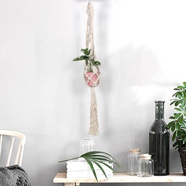 Bohemianism Style Hand Weaving Beige Tassels Cotton Tapestry