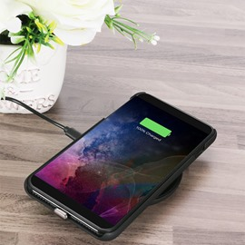 Wireless Leather Texture Alloy Lightning High Efficiency Phone Charger