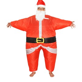 Christmas Santa Claus Cartoon Inflatable Costume
