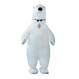Giant White Polar Bear Inflatable Costume
