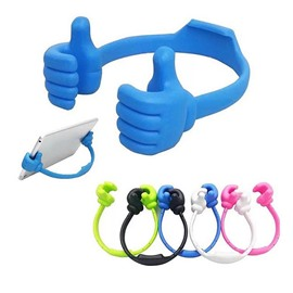 Cute Thumbs up Adjustable TPU Flexible Mobile Cell Phone Tablet Computer Display Stand Holder
