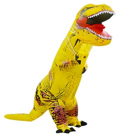 Yellow Tyrannosaurus Rex Holiday Decoration Inflatable Costume for Adult