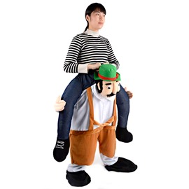 Ride on the Man' s Shoulder Design Inflatable Costume for Halloween