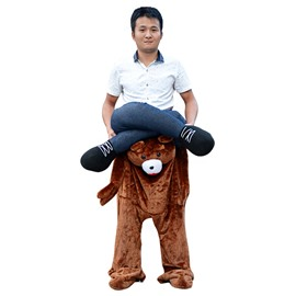 Hilarious Ride on Bear's Back Pattern Halloween Inflatable Costume