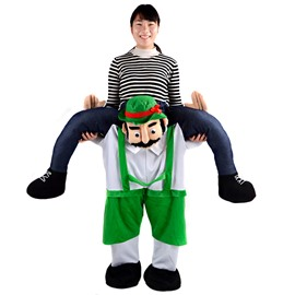 Unique Beard Man Piggyback Halloween Inflatable Costume