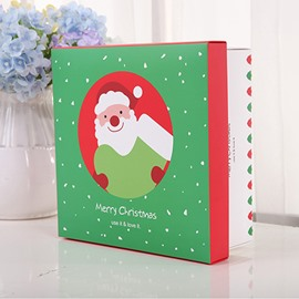 Christmas Santa Claus 3 Size Square Paper Gift Bag and Box