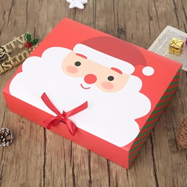 Christmas Santa Claus 2 Size and 2 Color Ribbon Paper Gift Box