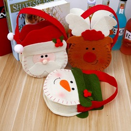 Good-quality Nonwoven Santa Snowman Reindeer Pattern Christmas Hand Bag