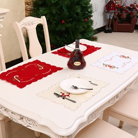 Simple and Beautiful Embroidered Hollow Christmas Placemat