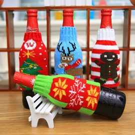 Come and Put on Your Red Wine Tight Sweater Christmas Wine Bottle Cover