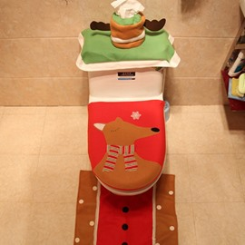 Gentle Mr. Reindeer 3 Piece Set Toilet Cover