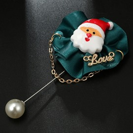 Creative Christmas Ornaments Silkiness Fabric Brooch