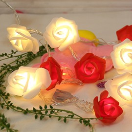 Vivid Romantic LED Rose String Light