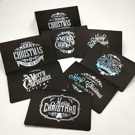New Creative Black and Blue Laser Series Christmas Greeting Card