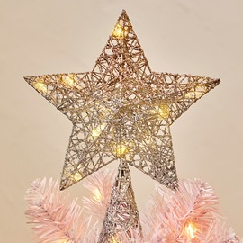 Exquisite 3D LED Battery-operated Glow Star Ornament Five-pointed Christmas Tree Topper
