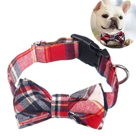 Super Classic Plaid Style Bow Pet Collar