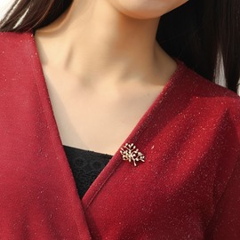 Fashion hHigh-end Crystal Christmas Tree Brooch
