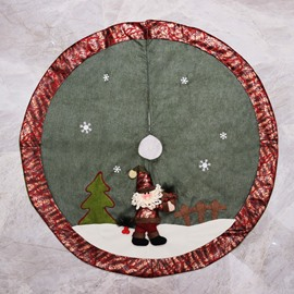 Santa Claus Leopard Print Edge Tree Skirt