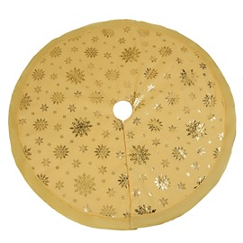 48' Multi-colored Sparkling Snowflake Tree Skirt