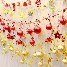 Balls String and Bells String Christmas Tree and Wall Decoration