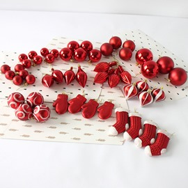 50 Pack Different Christmas Ball Painted Pendant Packages