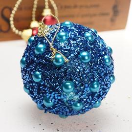 Pearl Gold Powder Christmas Tree Hanging Ball