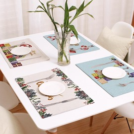 Nordic Christmas Theme Placement Insulation Fabric Table Mat