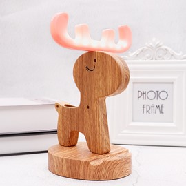 Multiple Uses Mobile Phone Holder Pen Container Night Light USB Charging
